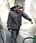 A CCTV image of a man wanted over a petrol station drive-off in Gladstone.