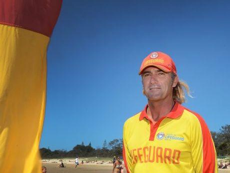 Steve Mills, Lifeguard at Main Beach at Byron Bay.