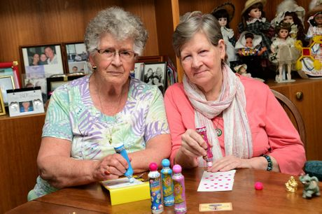 (left) Henny Roest and Ellen Muller are disappointed the Caloundra RSL has cancelled its bingo. Photo: Iain Curry / Sunshine Coast Daily