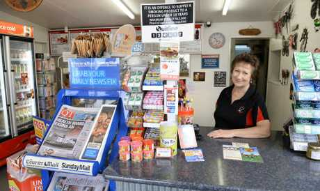 Barbara Frohloff has worked at her Minden crossroads store for 25 years and took over ownership in 2008. Photo: Rob Williams / The Queensland Times