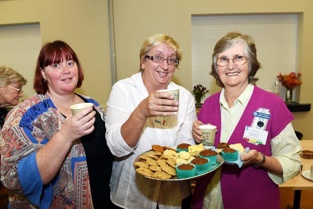 CWA Regional Meeting - Howard CWA ladies Tamara Stephensen, Judy Sheean and Barbara Hargreaves. Photo: Valerie Horton / Fraser Coast Chronicle
