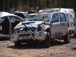 Chinchilla officers escape police 4WD rollover