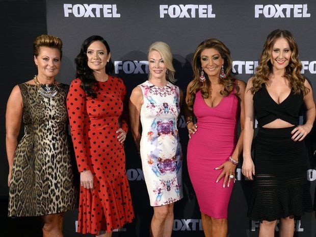 THEY'RE BACK: The Real Housewives of Melbourne cast include original members Chyka Keebaugh (left), Lydia Schiavello, Janet Roach, Janet Roach and Jackie Gillies and they will be joined by new members Pettifleur Berenger and Gamble Breaux. Andrea Moss will not return.
