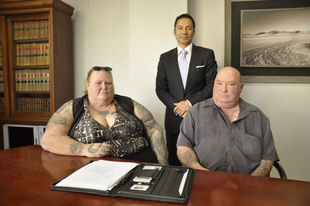 Rosemary Creamer, Aden Lawyers director David Riwoe and former council dump worker Clynton Lawrance are taking Toowoomba Regional Council to the Industrial Court over years of unfair pay conditions.