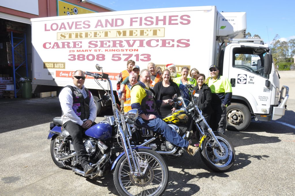 The team at Loaves and Fishes Street Meet Care Services at their new depot in South St.