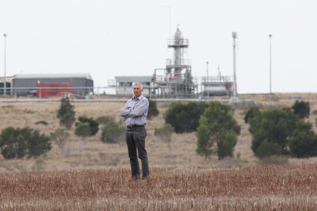 John Dalton outside the site of the proposed coal mine