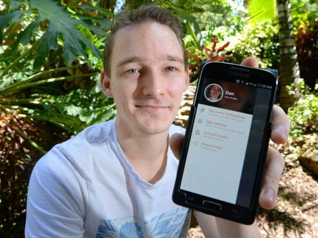 DATING ONLINE: Tinder user Dan Harkin says you have to exercise some common sense when using the dating app.