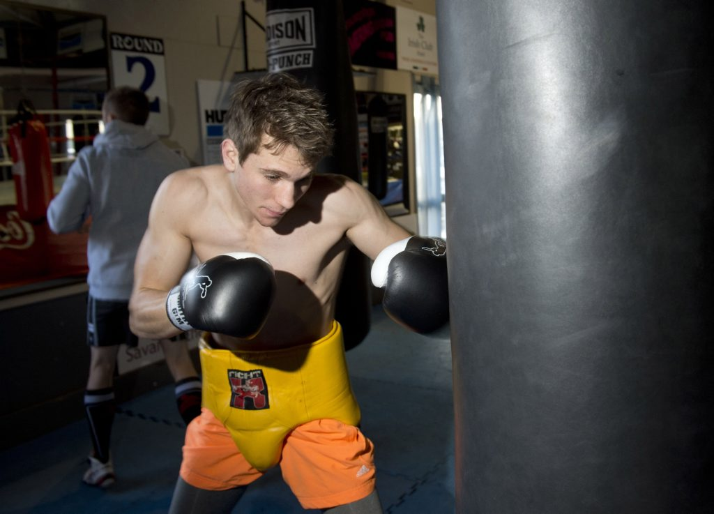 Steve Spark continues preparing this week for his switch to the professional boxing ranks.