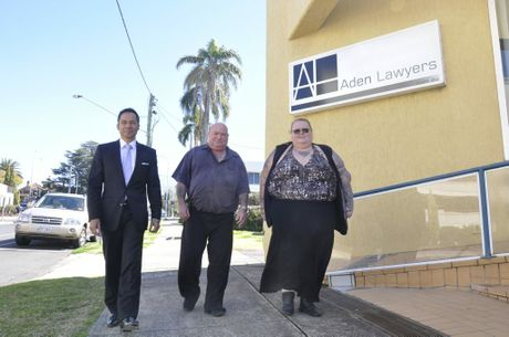(from left) Adens Lawyers director David Riwoe, former council dump worker Clynton Lawrance, who is taking Toowoomba Regional Council to the Industrial Court of Queensland over pay conditions, and his best friend Rosemary Creamer. Photo Chris Calcino / The Chronicle