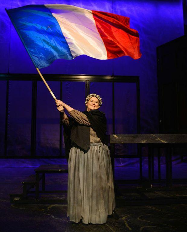 Lisa Bricknell on the set of La Boheme. Photo Allan Reinikka / The Morning Bulletin