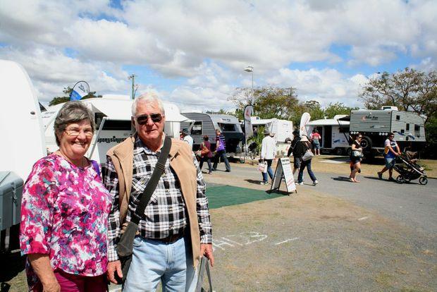 Bev and Peter Hamilton at the caravan expo. Photo Lisa Benoit/ The Morning Bulletin