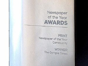 Major award for the Gympie Times
