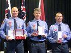 RECIPIENTS: Senior firefighters Bill Edgar and Tony Wildman, station officer Matt Phillips and firefighter Brad Izod.