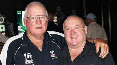 Noel Kelly (left) at a Men of League function with Ivan Jones.