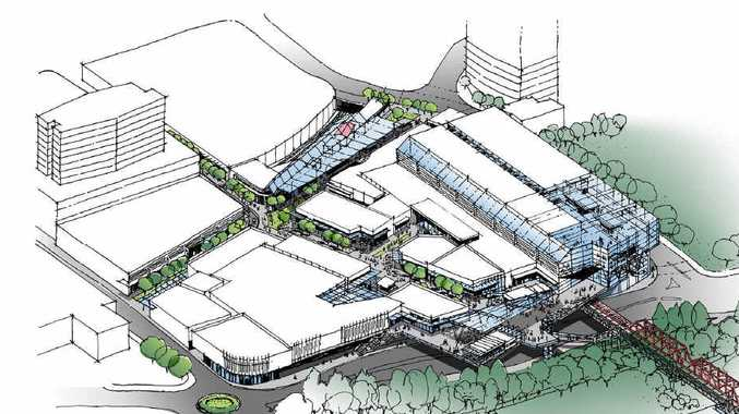 GRAND PLAN: An artist's impression of the next stage of the Ipswich City Square shopping complex.
