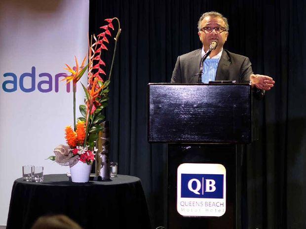 ADDRESSING CONCERNS: Adani Ports Australia chief executive officer Sandeep Mehta addresses the community forum in Bowen.