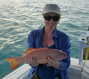 Elise Wilson with a nice trout caught recently.