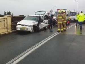 Bridge crash brings traffic to a standstill