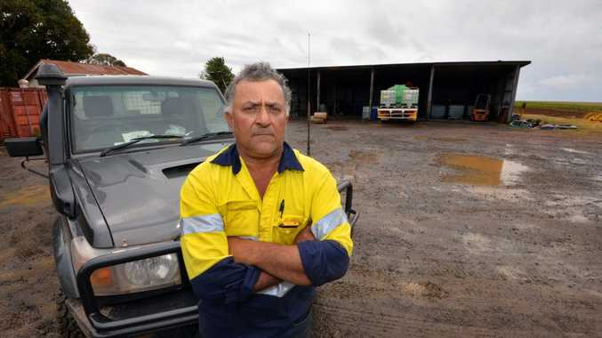 ROAD RAGE: Childers based farmer Tony Russo is fed up with the amount of backpacker related car crashes on the roads.