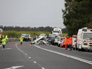 Kids praying for their mum after Pacific Highway crash