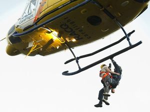 Teenager rescued after 50m cliff fall