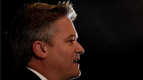 Finance Minister Mathias Cormann addresses the Sydney Institute in Sydney, Tuesday, Aug. 19, 2014.