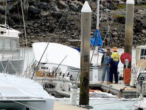 Boom set up around sunken cruiser after diesel spill