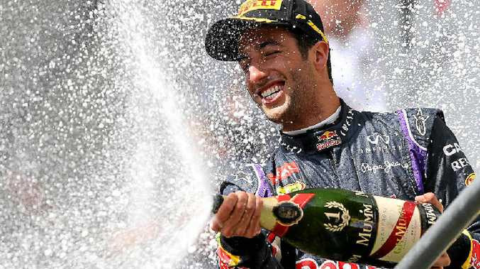 Daniel Ricciardo celebrates his win.