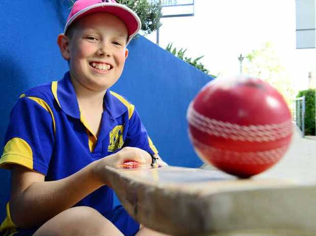 HIT FOR SIX: Jamie Koch of St Joseph's Primary School is organising a charity cricket match for the McGrath Foundation.