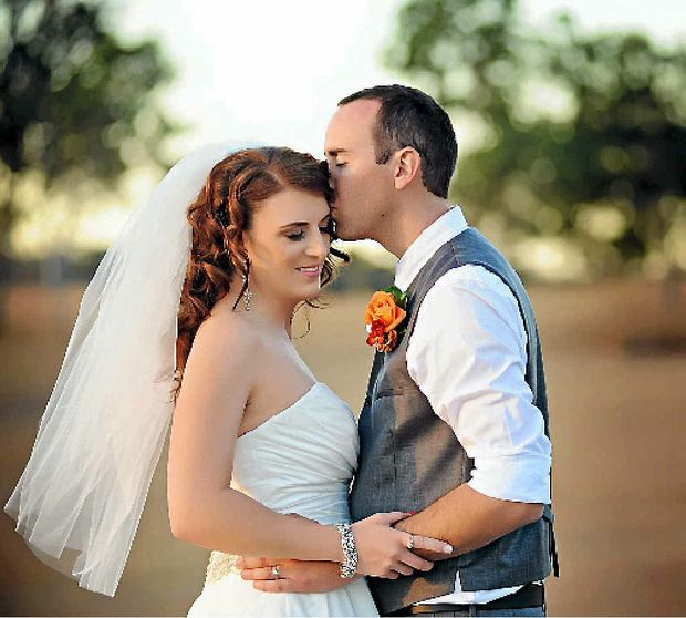 WEDDED BLISS: Kristy and Daniel were married in a stunning ceremony on August 9 in front of family and friends.