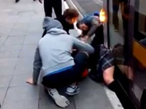 VIDEO: Watch as crowd rescues teen from tram