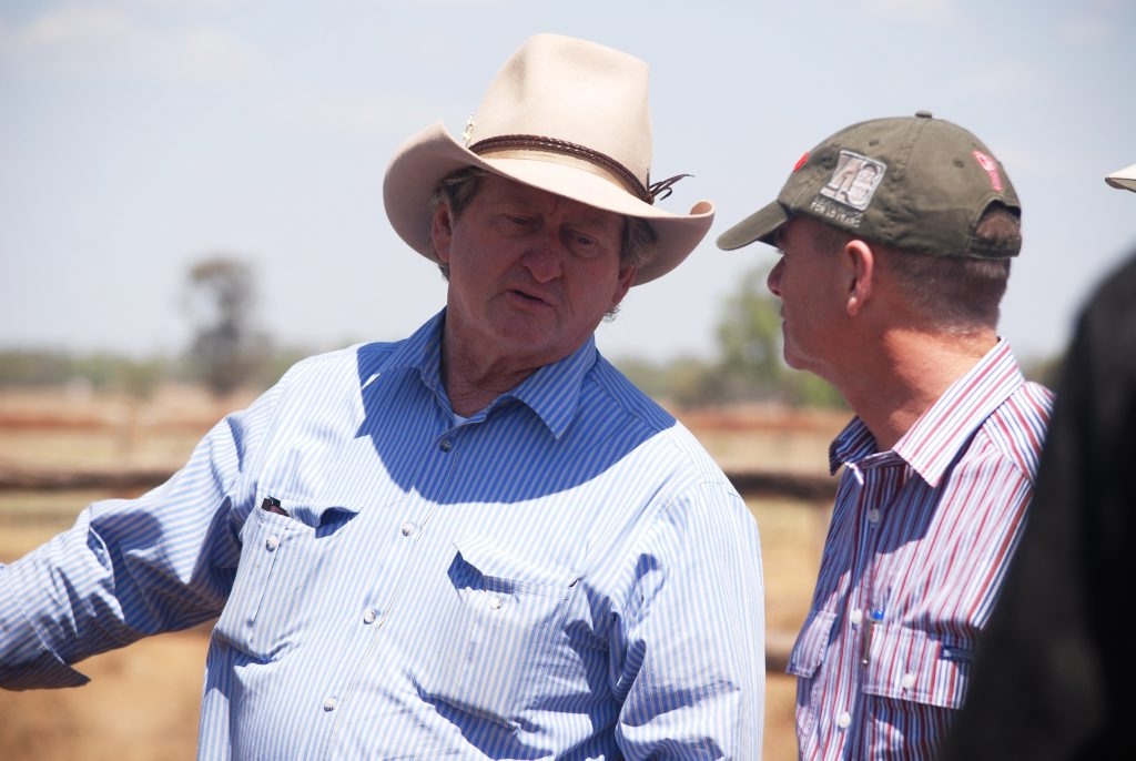 Member for Gregory Vaughan Johnson with Premier Campbell Newman. Photo Meghan Kidd / CQ News