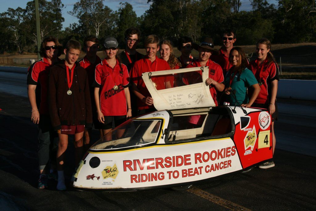 The Riverside Rookies from Riverside Christian College competed in the Boyne Island eight-hour winning their division and coming second overall.
