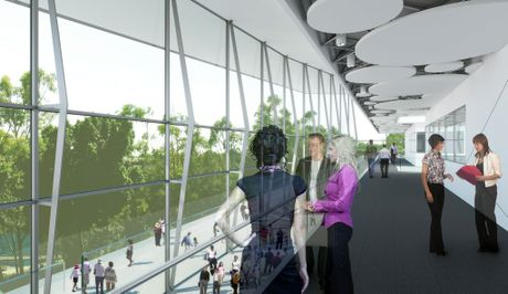 Artist impression of the proposed Performing Arts Centre for Ipswich. Photo: Contributed