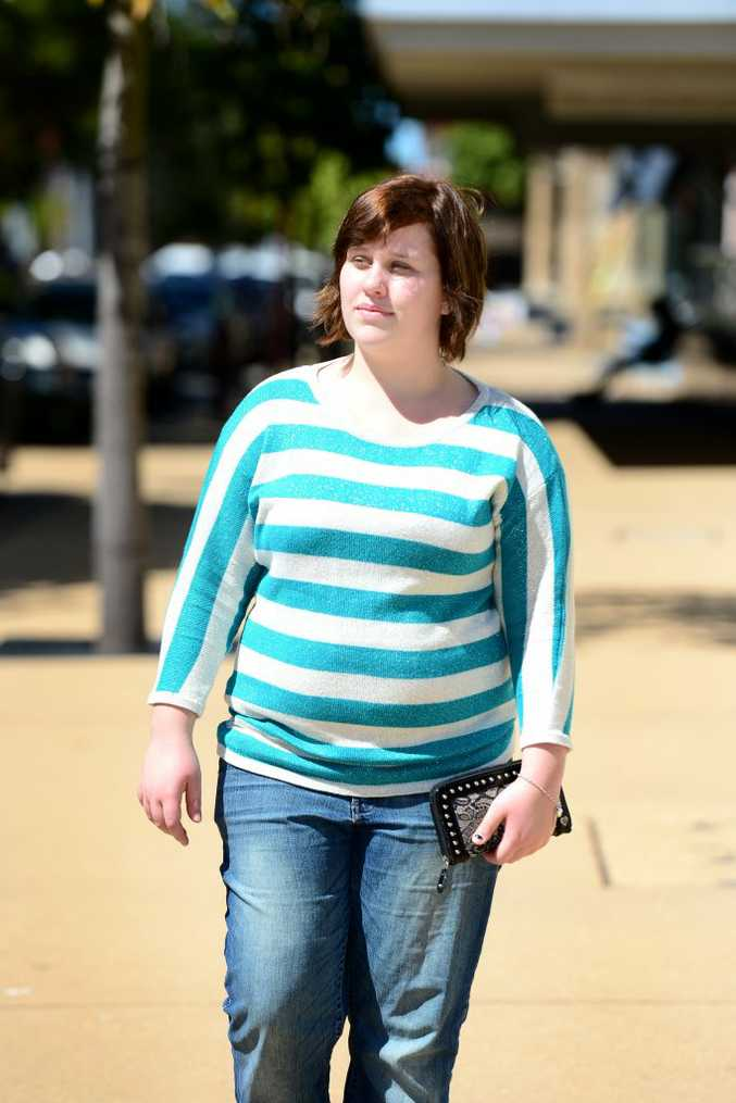Selena Anderson wants people to stop labeling things and not just people based on their size. Photo Sharyn O'Neill / The Morning Bulletin