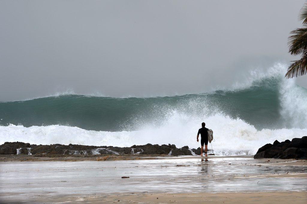 Big surf at snapper. Photo: John Gass / Tweed Daily News