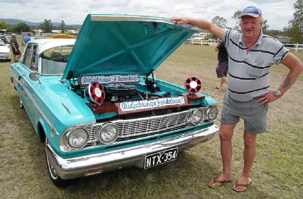 HELPING OUT: Trevor Knust, of Coalstoun Lakes, showed his pride and joy at last year's Ruff 'n' Tuff Car Club show and swap meet at Biggenden.