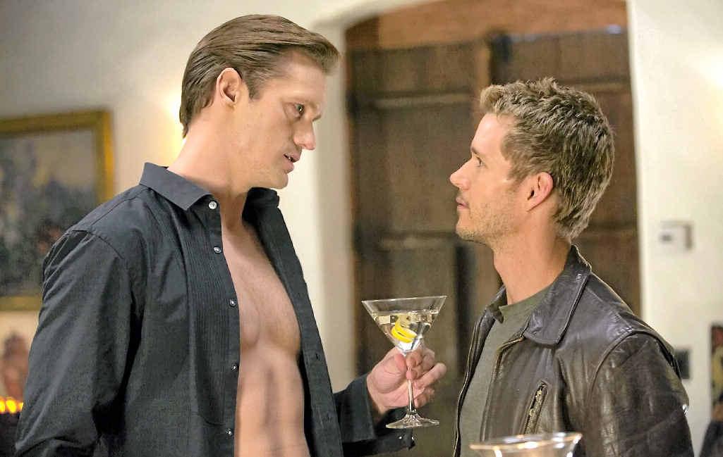 CHEMISTRY: True Blood's Eric Northman (Alexander Skarsgard) and Jason Stackhouse (Ryan Kwanten) in a scene from the show's final season.