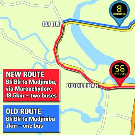 Route changes at Bli Bli