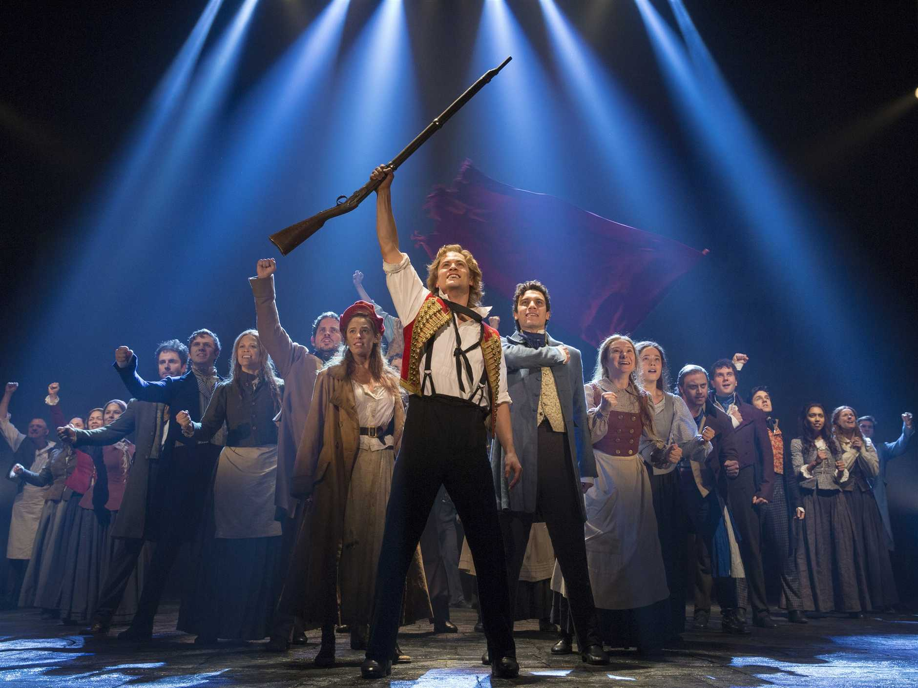 A scene from the musical Les Miserables.