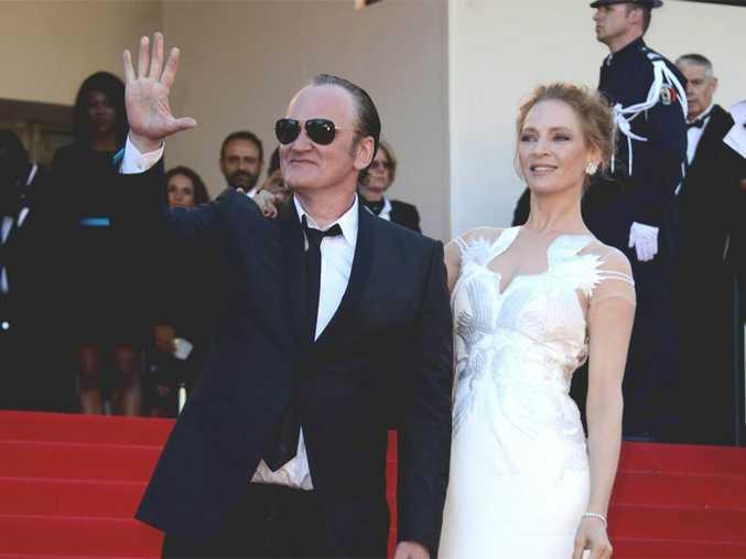 Uma Thurman with Quentin Tarantino