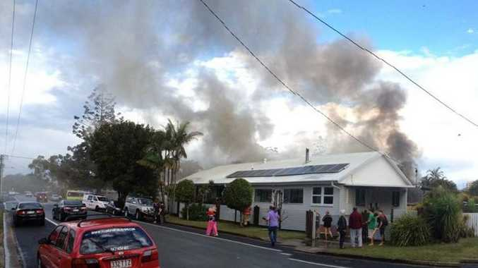 House fire at 56 Taylor Avenue, Golden Beach. Photo: Contributed