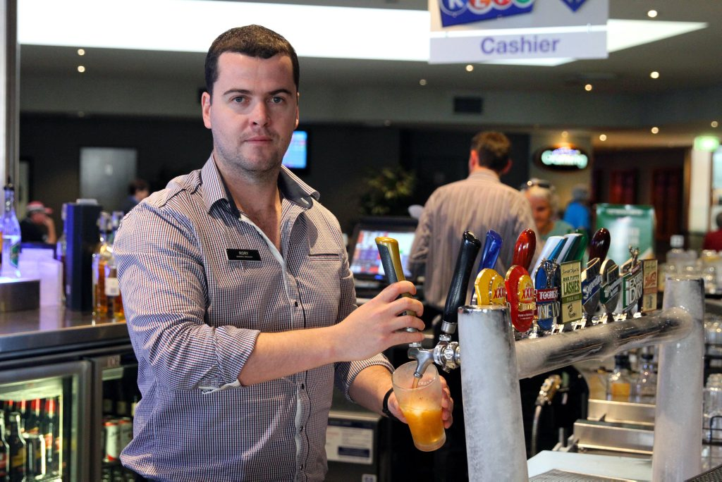 RESPONSIBLE DRINKING: Sugarland Tavern general manager Rory O'Connor fully supports the Safe Night Out Strategy that passed through Queensland Parliament during the week. Photo: Zach Hogg / NewsMail