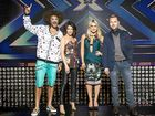 OUCH FACTOR: Redfoo (left), on stage with fellow X Factor judges Dannii Minogue, Natalie Bassingthwaighte and Ronan Keating, was the victim of a glassing attack.