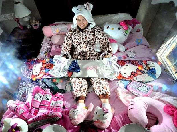 Cath Thomas, of Goonellabah, has spent eight years collecting Hello Kitty products.