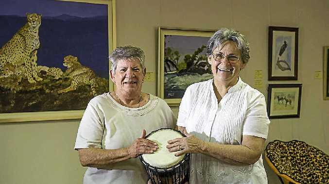 BRILLIANT EXHIBITION: Una Webber and Jeannie Sturt will open their African Safari exhibition at Cedar Galleries on Saturday.