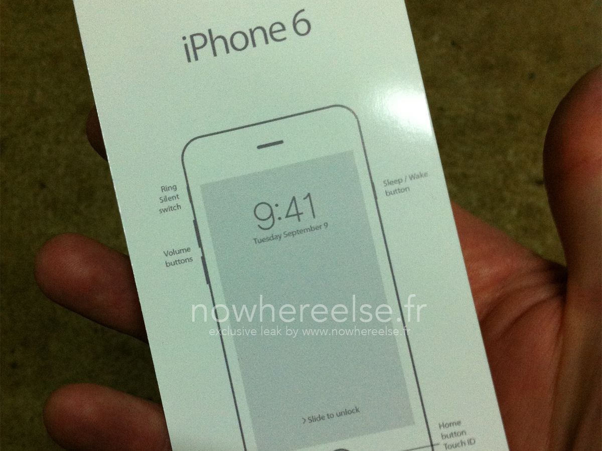 A leaked image of the iPhone 6 from French technology website Nowhere Else