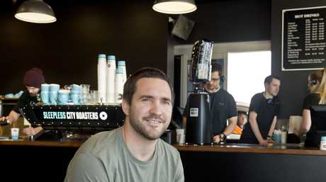 Tim Burstow. Sleepless City Roasters, drive thru coffee in Toowoomba . Friday, Aug 29, 2014 . Photo Nev Madsen / The Chronicle