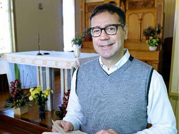 HUMBLE ACHIEVER: Father Mauro Conte in St Monica's Chapel.