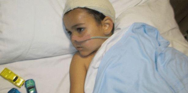 Ashya King in hospital. UK Police have